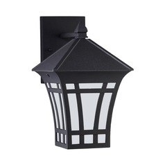 Sea Gull Lighting Herrington Black Outdoor Wall Light