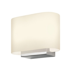 Sonneman Lighting Modern Sconce Wall Light with White Glass in Polished Chrome Finish 3715.01