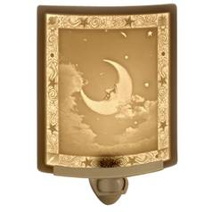 Porcelain Garden Lighting Moon Man Night Light NR-15