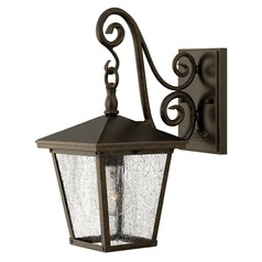 Seeded Glass LED Outdoor Wall Light Bronze Hinkley Lighting