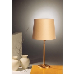Holtkoetter Modern Table Lamp with Beige / Cream Shade in Antique Brass Finish