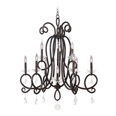 Kalco Lighting Winona Tarnished Brass Chandelier
