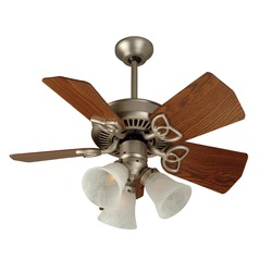 Craftmade Lighting Piccolo Brushed Satin Nickel Ceiling Fan with Light