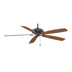 Modern Ceiling Fan Without Light in Oil-Rubbed Bronze Finish