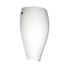 Sconce Wall Light with White Glass in Satin Nickel Finish