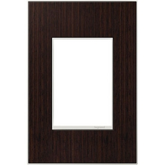 Legrand Adorne Wenge Wood 1-Gang 3-Module Switch Plate