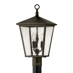 Hinkley Lighting LED Post Light with Clear Glass in Regency Bronze Finish 1431RB-LED