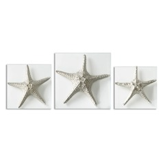 Uttermost Silver Starfish Wall Art, Set of 3
