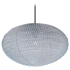 Maxim Lighting Twisp Polished Chrome Pendant Light with Oval Shade