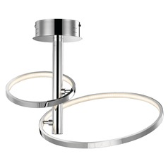 Elan Lighting Sirkus Chrome LED Semi-Flushmount Light