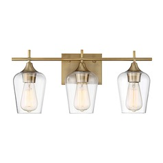 Savoy House Lighting Octave Warm Brass Bathroom Light