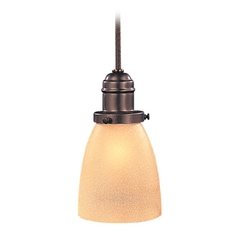 Hudson Valley Lighting Mini-Pendant Light with Beige / Cream Glass 3102-OB-348AC