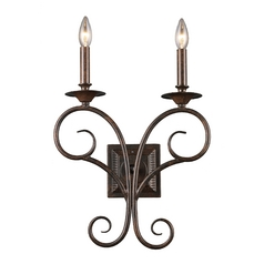 Sconce Wall Light in Antique Bronze Finish