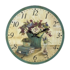 Floral Decoupage Wall Clock