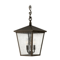 LED Outdoor Hanging Light with Clear Glass in Regency Bronze Finish