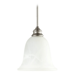 Quorum Lighting Bryant Classic Nickel Mini-Pendant Light with Bell Shade