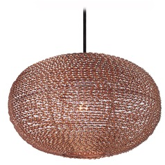 Maxim Lighting Twisp Copper Pendant Light with Oval Shade