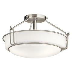 Transitional Semi-Flushmount Light Brushed Nickel Alkire by Kichler Lighting