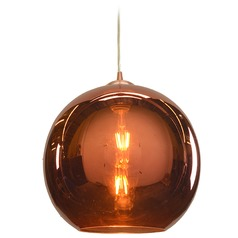 Access Lighting Glow Brushed Copper Pendant Light with Bowl / Dome Shade