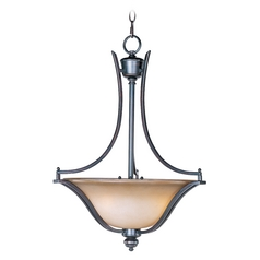 Maxim Lighting Madera Oil Rubbed Bronze Pendant Light with Bell Shade
