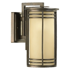Quorum Lighting Larson Oiled Bronze Outdoor Wall Light