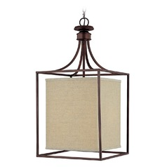 Capital Lighting Midtown Burnished Bronze Pendant Light with Rectangle Shade