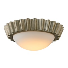 Troy Lighting Reese Silver Leaf LED Flushmount Light
