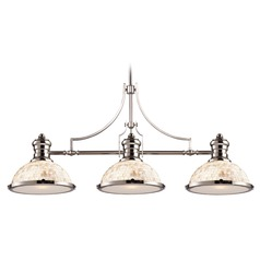 Elk Lighting Chadwick Polished Nickel LED Billiard Light with Bowl / Dome Shade