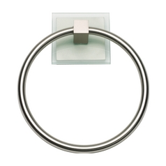 Atlas Homewares Modern Towel Ring in Brushed Nickel Finish ETR-BRN