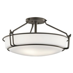 Transitional Semi-Flushmount Light Olde Bronze Alkire by Kichler Lighting