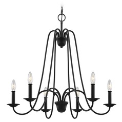 Feiss Lighting Boughton Antique Forged Iron Chandelier