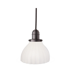 Hudson Valley Lighting Mini-Pendant Light with White Glass 3102-OB-444