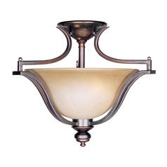Semi-Flushmount Light in Oil Rubbed Bronze Finish