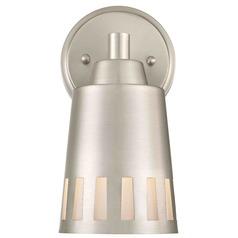 Design Classics Lighting Satin Nickel Sconce
