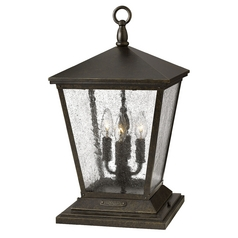Post Light with Clear Glass in Regency Bronze Finish