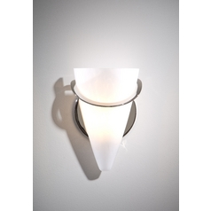 Holtkoetter Modern Sconce Wall Light with White Glass in Polished Nickel Finish