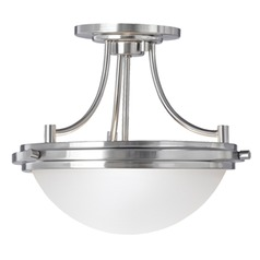 Sea Gull Lighting Winnetka Brushed Nickel Semi-Flushmount Light