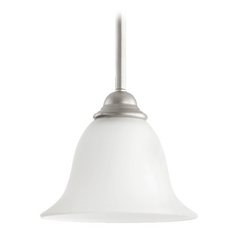 Quorum Lighting Celesta Classic Nickel Mini-Pendant Light with Bell Shade