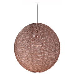 Maxim Lighting Twisp Copper Pendant Light with Globe Shade