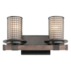 Kichler Lighting Ahrendale Anvil Iron Bathroom Light