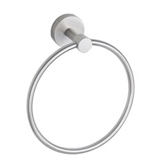 Seattle Hardware Co Prelude Satin Nickel 6.875-Inch Towel Ring