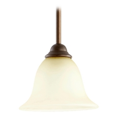 Quorum Lighting Celesta Oiled Bronze Mini-Pendant Light with Bell Shade