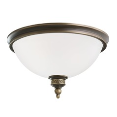 Sea Gull Lighting Laurel Leaf Estate Bronze LED Flushmount Light