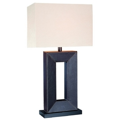 Lite Source Lighting Marco Brown Table Lamp with Rectangle Shade