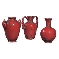 Vase in Alto Red Finish