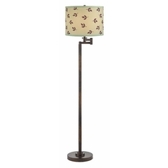 Design Classics Lighting Modern Swing Arm Lamp with Green Shade in Bronze Finish 1901-1-604 SH9488