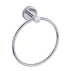 Seattle Hardware Co Prelude Chrome 6.875-Inch Towel Ring