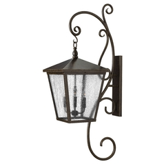 Seeded Glass Outdoor Wall Light Bronze Hinkley Lighting
