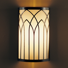 Hubbardton Forge Lighting Gothic Arches Natural Iron Sconce