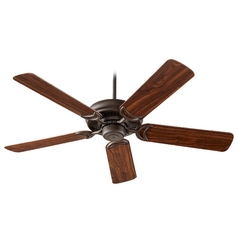 Quorum Lighting Venture Oiled Bronze Ceiling Fan Without Light